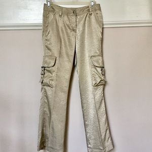 Express shiny pants with cargo pockets size0